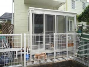 愛犬家必見!室外犬のためのサンルーム