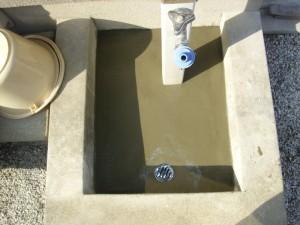 屋外散水栓の排水工事