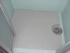 ハーフユニットバスの洗い場床の補強、補修工事