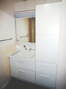 リクシル洗面化粧台ピアラと老朽化した配管の更新