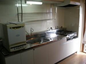 築40年のマンションのブロックキッチン