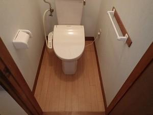 トイレ床の補修